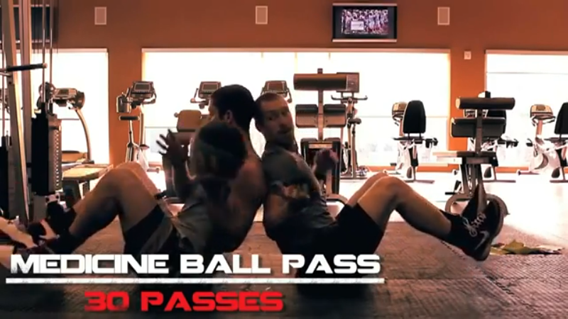 Intense ab workout video medicine ball passes Intense Ab Workout Video