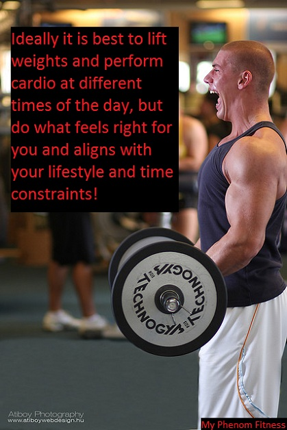 is it best to perform weight lifting before cardio?