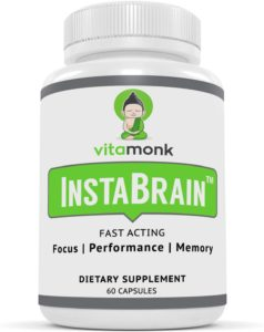 vitamonk nootropic nutrition label