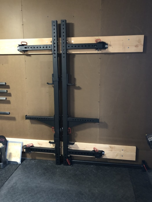 titan folding squat rack set up