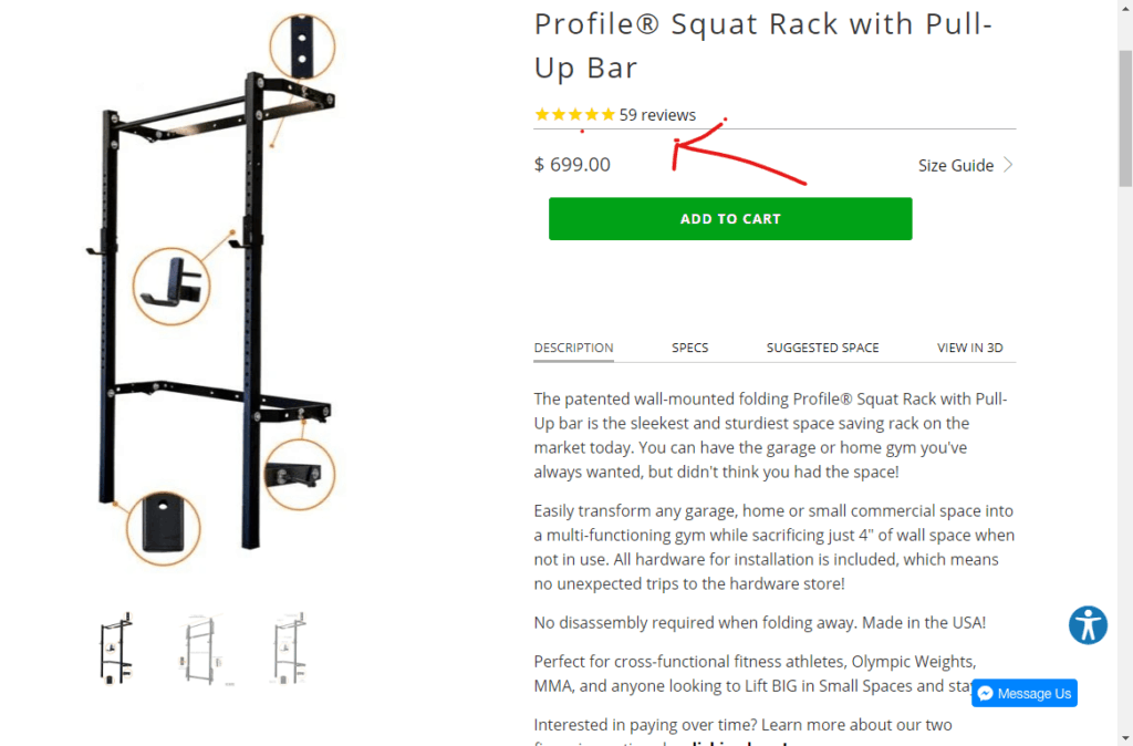 PRX profile wall mounted squat squat rack review