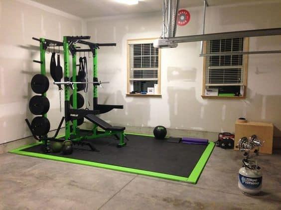 budget garage gym example