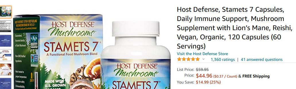 Stamets 7® - 60 Capsules