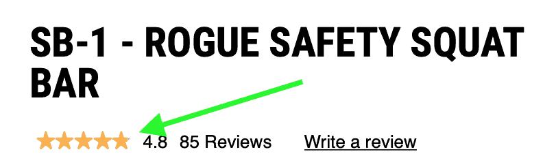 SB-1 - ROGUE SAFETY SQUAT BAR