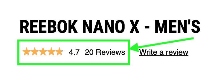 Reebok Nano X Reviews