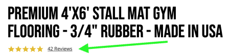 Rep Fitness Premium Rubber Mats